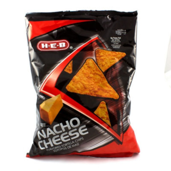 H-E-B Nacho Cheese Flavored Tortilla Chips