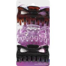 Goody Cynthia Claw Clips, Assorted Colors, 3 count