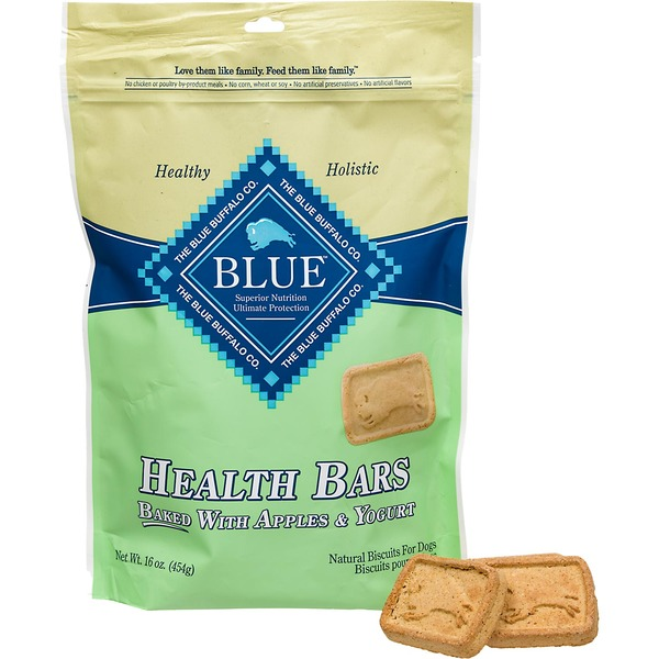 Blue Buffalo Health Bars Apple & Yogurt Biscuits For Dogs