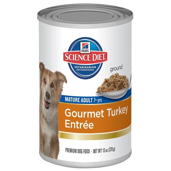 Hill's Science Diet Dog Food, Mature Adult (7+ Years), Gourmet Turkey Entree