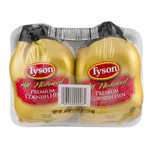 Tyson All Natural Premium Cornish Hen - 2 CT