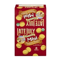 Late July Organic Mini Peanut Butter Sandwich Cracker - 8 CT