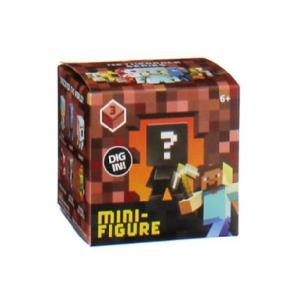 Mattel Minecraft Mini Vinyl Figures In Blind Box Assortment Series 2