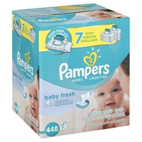 Pampers Baby Fresh Pampers Baby Wipes Baby Fresh 7X 448 count  Baby Wipes