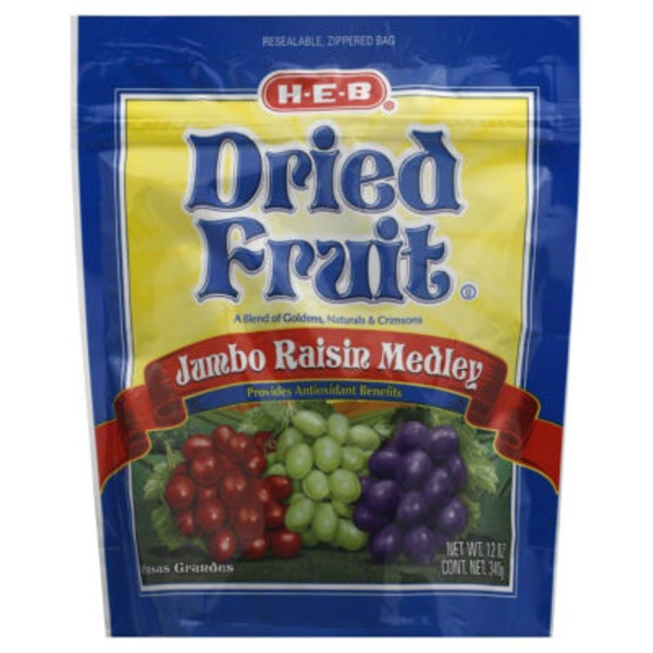 H-E-B Jumbo Raisin Medley Dried Fruit