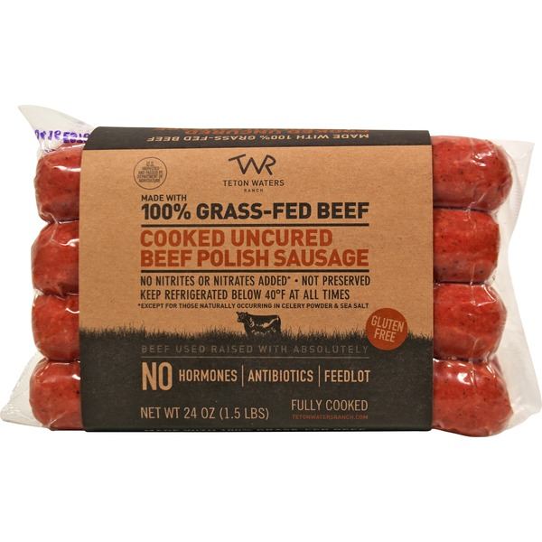 Teton Waters Ranch 100% Grass Fed Beef Polish Sausage