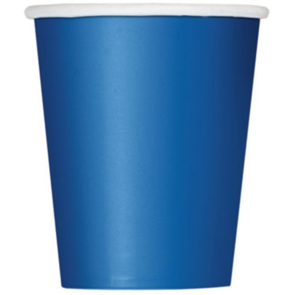 Unique 9 Oz Royal Blue Cups