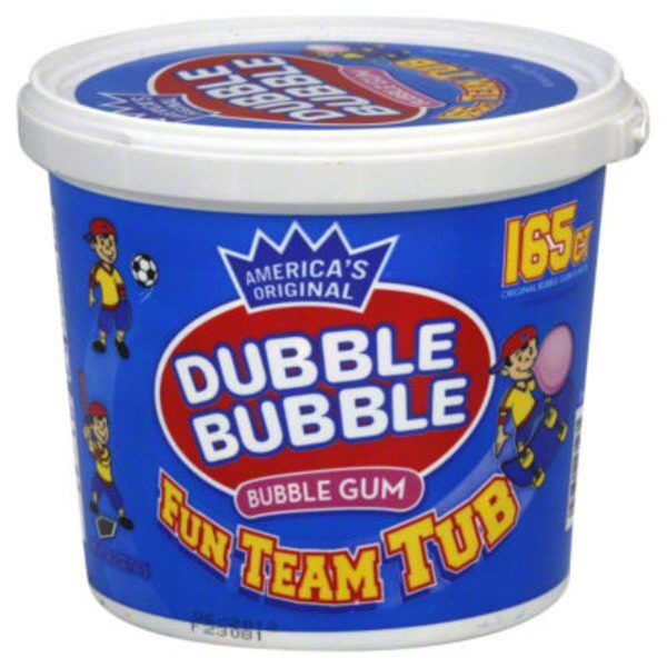 Double Bubble Bubble Gum Fun Team Tub - 165 CT
