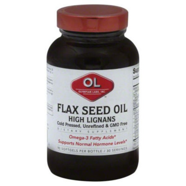 Olympian Labs Flax Seed Oil Softgels