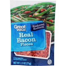 Great Value Real Bacon Pieces, Reduced Sodium, 2.5 oz
