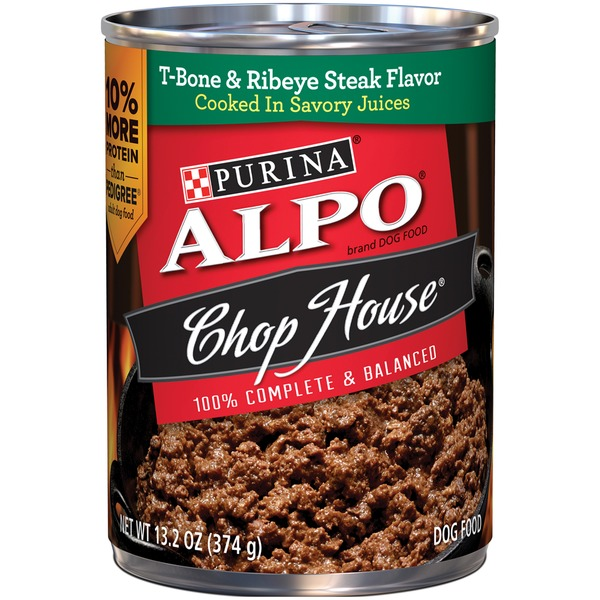 Alpo Wet Chop House T-Bone Steak & Ribeye Flavor Dog Food