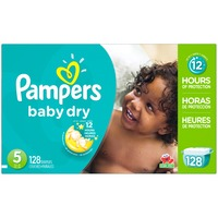 Pampers Baby Dry Pampers Baby Dry Diapers Size 5 128 Count Diapers