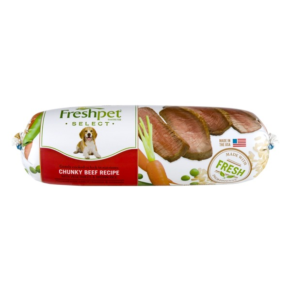 Freshpet Select Dog Food Chunk Beef Recipe