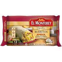 El Monterey® Meat Lovers - Egg, Sausage, Bacon & Cheese Burritos (12ct)