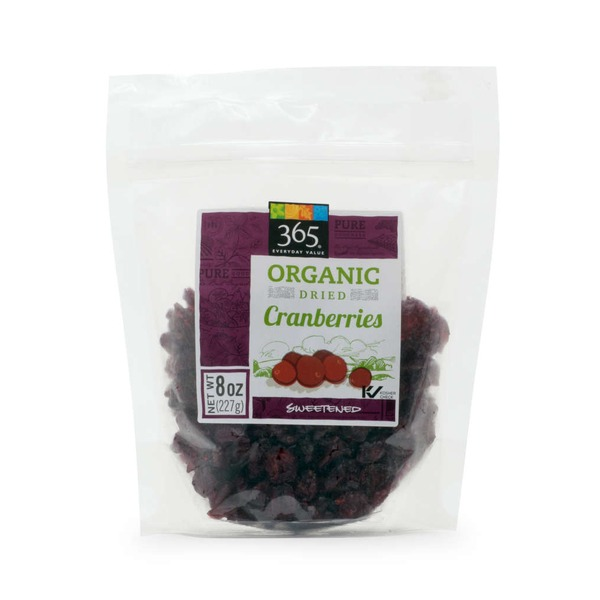 365 Organic Sweetened Cranberries