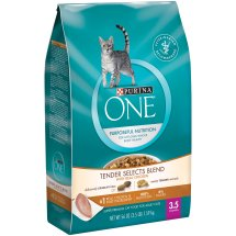 Purina ONE Tender Selects Blend with Real Chicken Cat Food 3.5 lb. Bag
