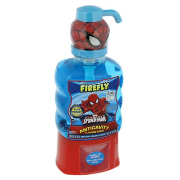 Firefly Marvel Ultimate Spider-Man Soft Toothbrush and Anticavity Fluoride Rinse Pack