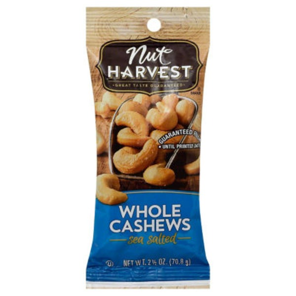 Natural Nut Harvest Whole Cashews Sea Salted Nuts