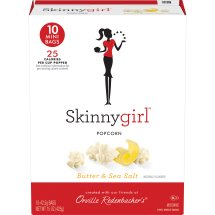 Skinnygirl Butter & Sea Salt Microwave Popcorn, Mini Bags, 10 Ct