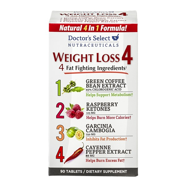 Doctor's Select Weight Loss 4 Dietary Supplement Tablets - 90 CT