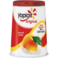 Yoplait Original Harvest Peach Low Fat Yogurt