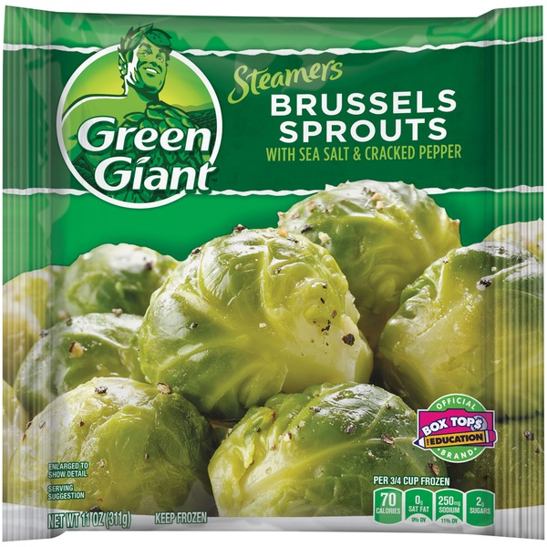 Green Giant Steamers Seasoned with Sea Salt & Cracked Pepper Brussels Sprouts