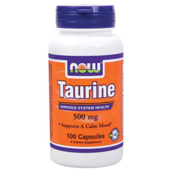 Now Taurine 500 Mg Capsules