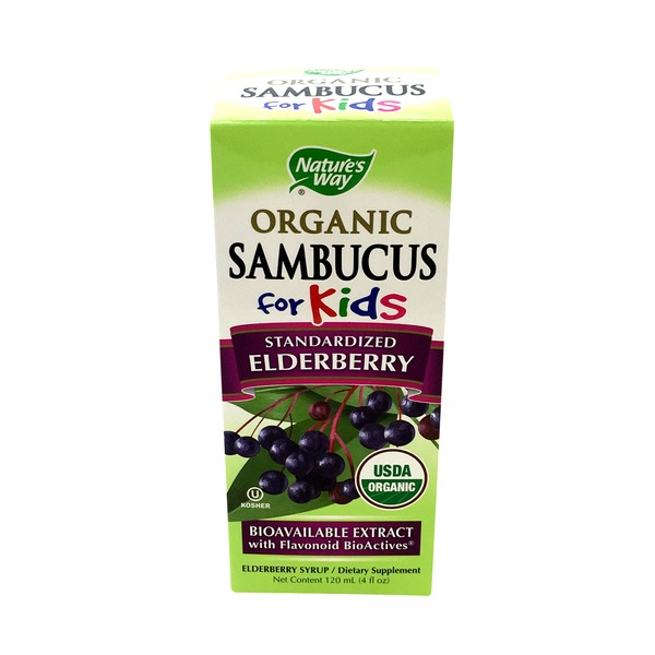 Nature's Way Organic Sambucus for Kids Standardized Elderberry