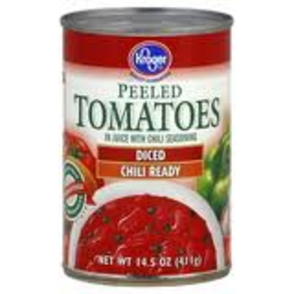 Kroger Tomatoes Diced With Chili Seasoning