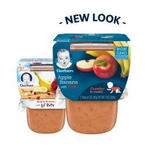 Gerber 3rd Foods Lil' Bits Apple Banana Baby Food, 5 oz Tubs, 2 Count