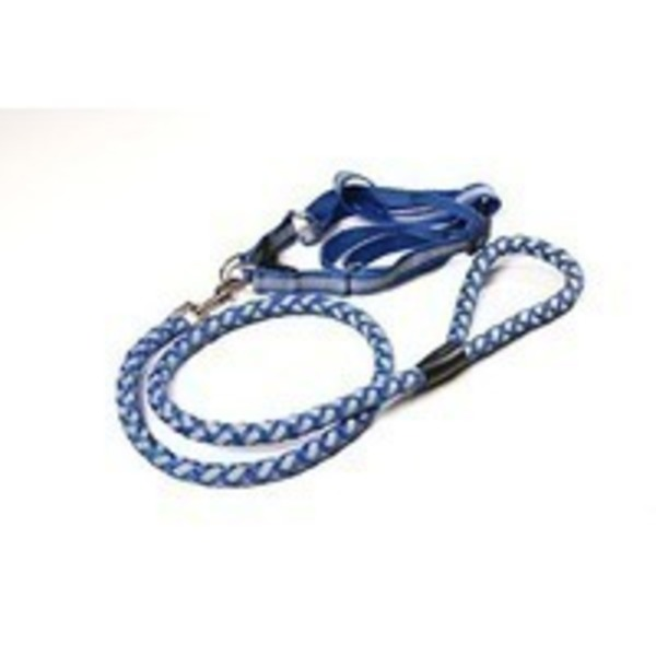 Csm Blue  Braided Dog Harness
