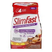 SlimFast Advanced Nutrition Meal Replacement Shake, Caramel Latte, 11 Fl oz, 4 Ct