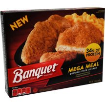 Banquet Mega Meal Boneless Fried Chicken Frozen Entree, 12 oz
