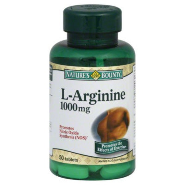 Nature's Bounty L-Arginine 1000mg Amino Acid Supplement Tablets - 50 CT