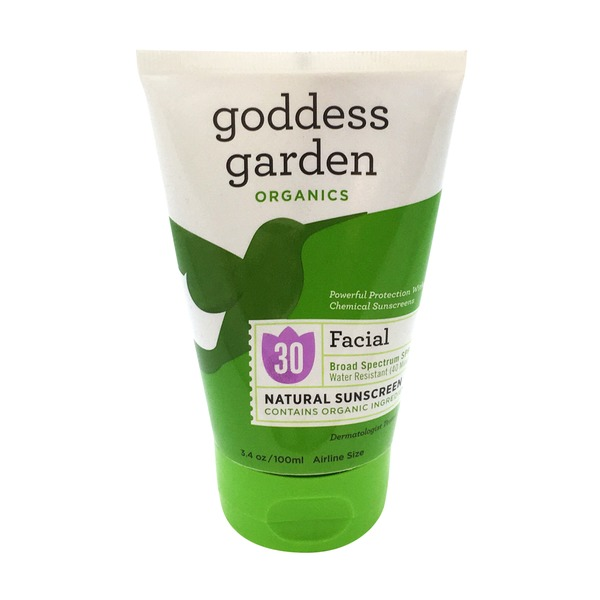 Goddess Garden Facial Broad Spectrum SPF 30 Natural Sunscreen
