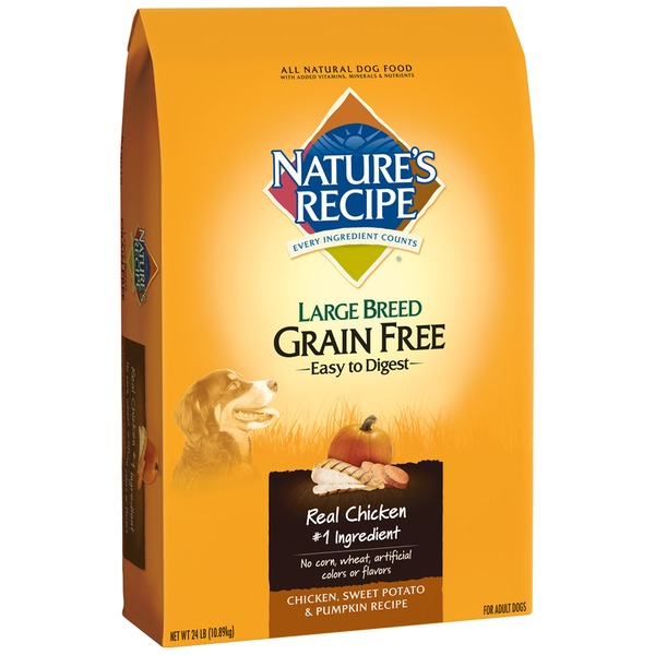 Nature's Recipe Grain Free Large Breed Easy to Digest Chicken Sweet Potato & Pumpkin Recipe Dog Food