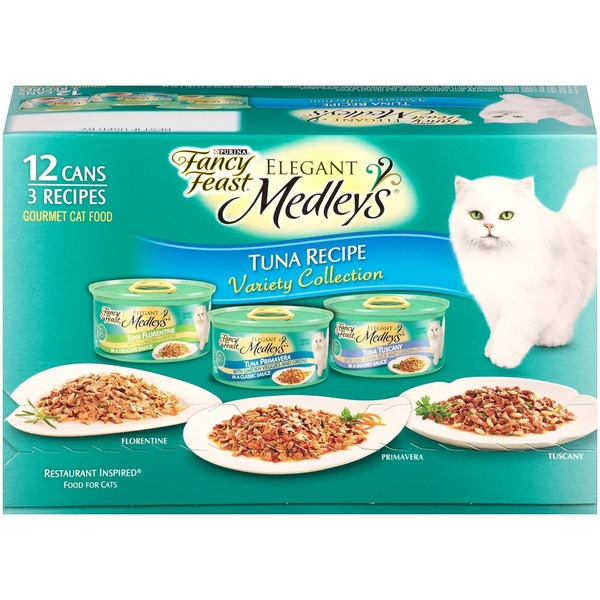 Fancy Feast Medleys Tuna Recipe Variety Collection Cat Food