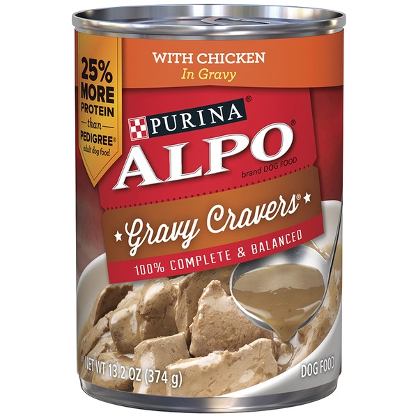 Alpo Wet Gravy Cravers With Chicken in Gravy Dog Food