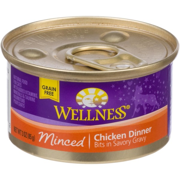Wellness Grain Free Minced Chicken Dinner Canned Cat Food