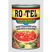 RO*TEL Mexican Style Lime & Cilantro Diced Tomatoes, 10 Ounce