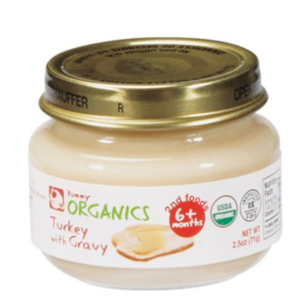 Yummy Organics 2nd Food Turkey With Gravy Baby Food