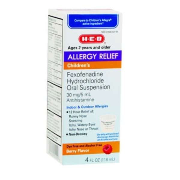 H-E-B Berry Flavor Children's Allergy Relief