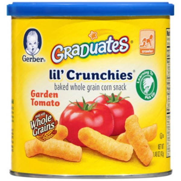 Gerber Graduates Lil' Crunchies Garden Tomato Baked Corn Snack
