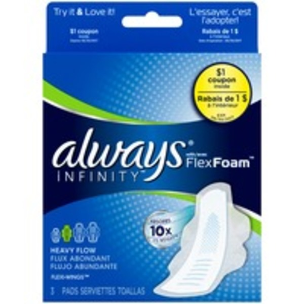 Always Infinity Always Infinity Super Pads with Wings 3 ct Feminine Care