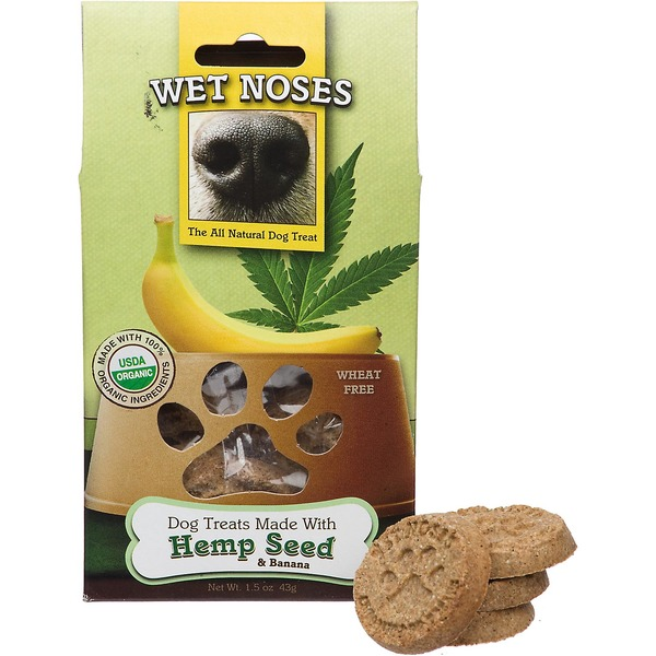 Wet Noses Organic Dog Treats Made With Hemp Seed & Banana