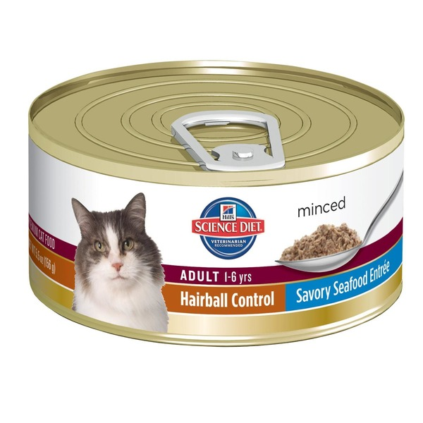 Hill's Science Diet Cat Food, Minced, Adult (1-6 Years), Savory Seafood Entree