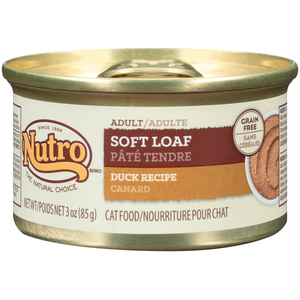 Nutro Natural Choice Soft Loaf Duck Recipe Canned Adult Cat Food Case Of 24
