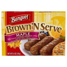 Banquet Brown 'N Serve, Maple Sausage Links, 6.4 Ounce, 10-Count