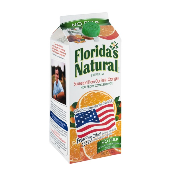 Florida's Natural 100% Orange Juice No Pulp