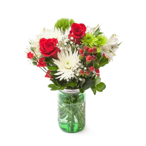 National Wt Medium Mason Jar Flower Arrangement Thanksgiving